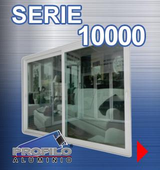 serie 10000 profilo aluminio jalisco mexico ventanas puertas