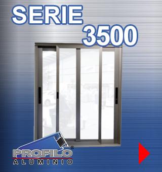 serie 3500 profilo aluminio jalisco mexico ventanas puertas