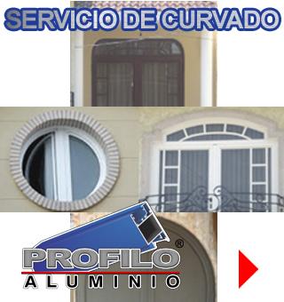 servicio de curvado profilo aluminio jalisco mexico ventanas puertas